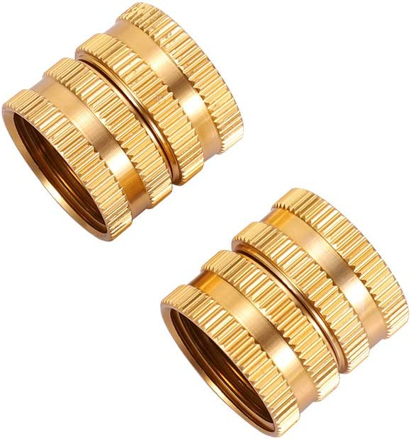 """Metal Garden Hose to Hose Fitting Connect, Double Female Quick Swivel Connector Adapter Thread Size 3/4"""" x 3/4"""" Pipe,Female Quick Connector for Hose"""