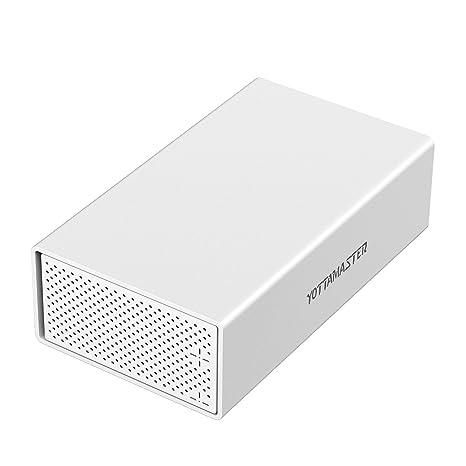 Yottamaster Aleación de Aluminio Disco duro Caja de 3.5 pulgadas USB3.1 Tipo C 2