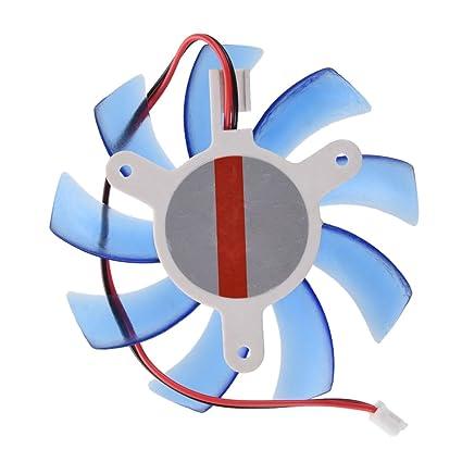 SODIAL(R) Ventilador de Refrigeracion Enfriador Disipador PC VGA Tarjeta de Video - Azul