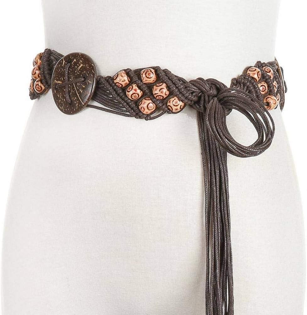 DYCHUN Damen Kleid G/ürtel Neuer Sommer-Strand Boho Dame Thin Rope Flower Flora Knitted Belt F/ür Frauen-Kleid