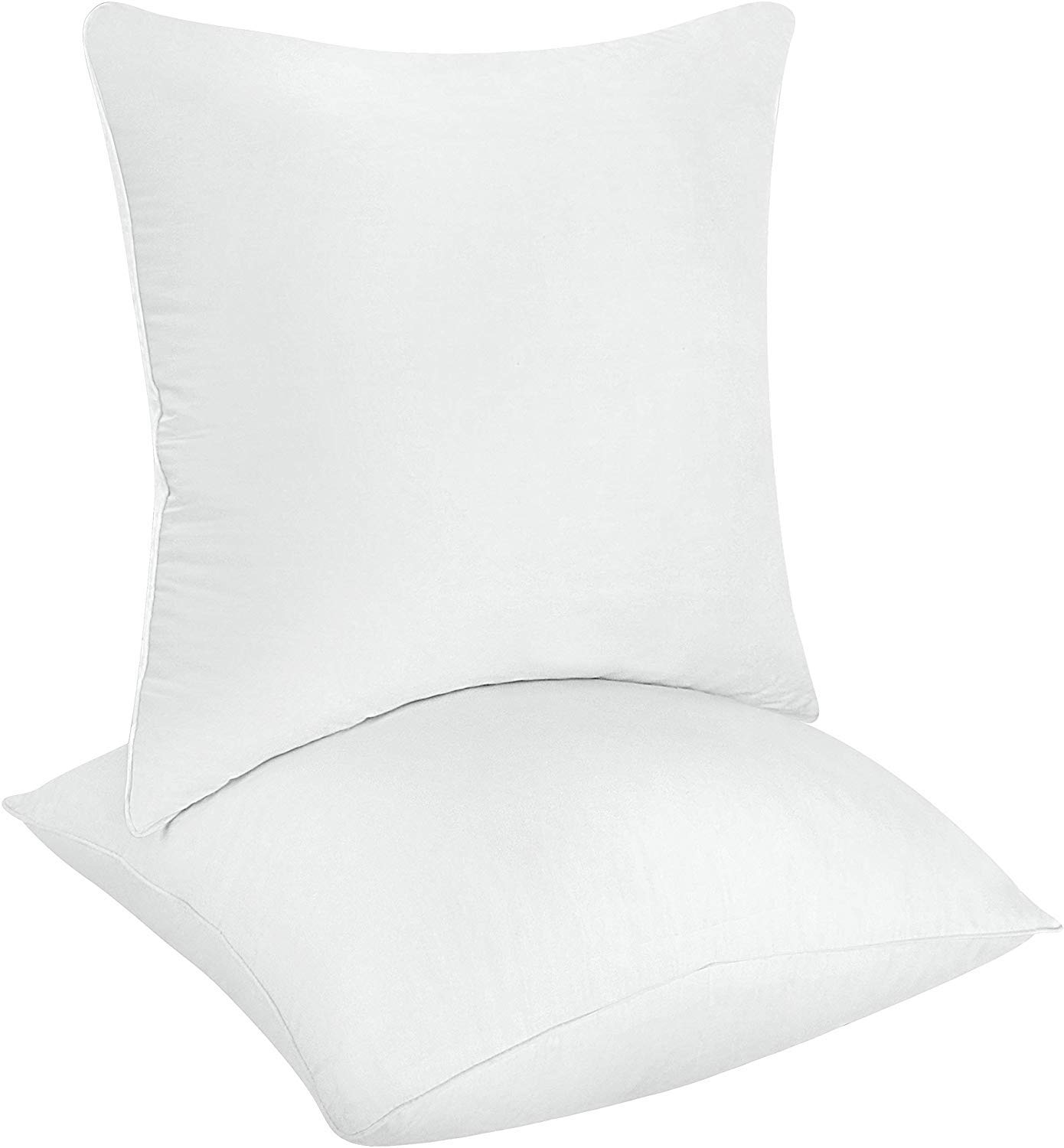 Utopia Bedding Throw Pillows Insert (Pack of 2, White) - 22 x 22 Inches Bed and Couch Pillows - Indoor Decorative Pillows by Utopia Bedding