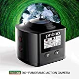 PNBOO PA-10 360° Panoramic Sport Action Camera 3D VR 16MP 4K HD 30fps Waterproof APP WIFI with Rechargeable Battery, Sony IMX179 Sensor