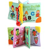 Forberesten First Early Educational Fabric Cloth Palm Book for Babys (Multicolour)