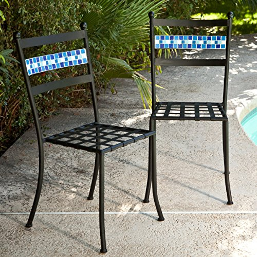 Coral Coast Marina Mosaic Bistro Chairs Set of 2 For Sale