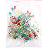 Feichen 100pcs 3mm Rouge Vert Jaune Bleu Blanc couleurs assorties LED Light Emitting Diodes