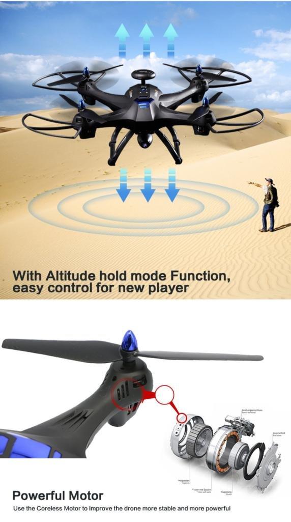 Drone con cámara, aritone mundial Drone x183 con 5 GHz WiFi FPV ...