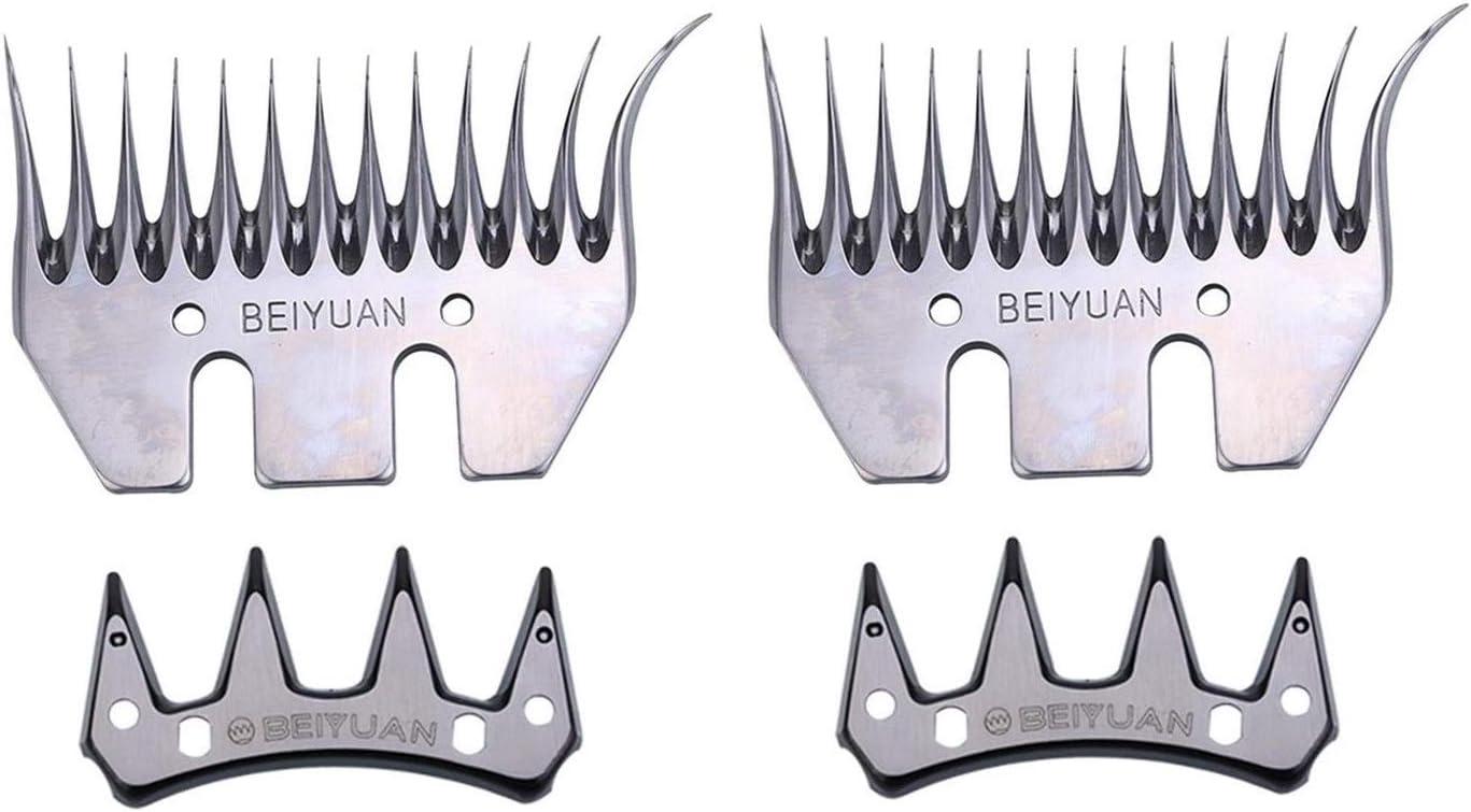 Kit de cuchillas y peines 83 mm curvo para Esquilar Ovejas de la marca Beiyuan universal compatible con todas las esquiladoras (2)