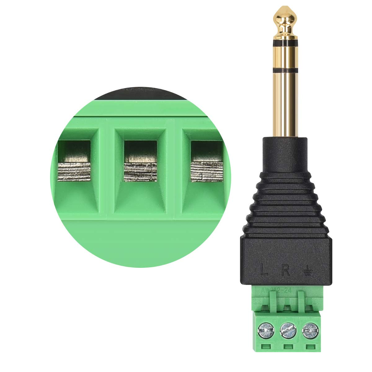 Connecteur fiche m/âle et Femelle vers borne AV connecteur Audio vid/éo Connecteur c/âble Prise RCA//Cinch kwmobile 5X Set Adaptateur Prise RCA
