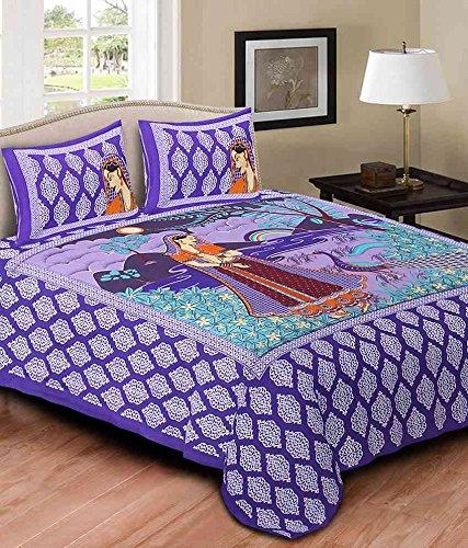 The Intellect Bazaar King Cotton Bed Sheet Cheap