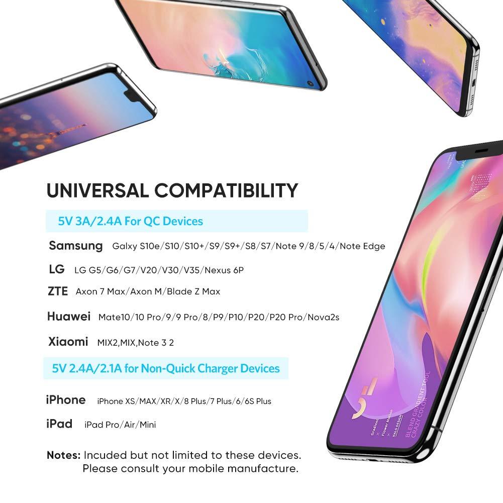 UGREEN Cargador Rápido QC 3.0 18W Quick Charge Qualcomm Certificado para Samsung S10 S9 Plus S8 Plus S8 Note 8, Xiaomi Mi A2 A3 Mi9 Mi8 Redmi Note 7 ...