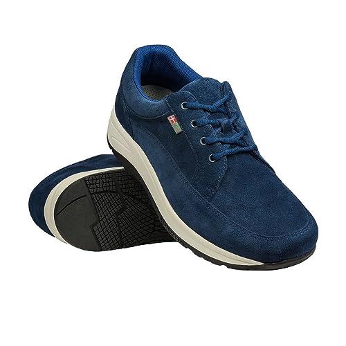 Wallin® para Hombre Flex cordones, Rocker Sole, reduce la presión, alivia pie, talón, rodilla dolor, color Multicolor, talla 42