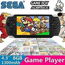 Fancci® A1 4.3'' LCD 8GB 32bit Li-On NES/SFC/GB/GBA Classic Games Portable Handheld Video Game Player MP4 MP5 MP3 FM Camera Kids Toys Gift-BLACK