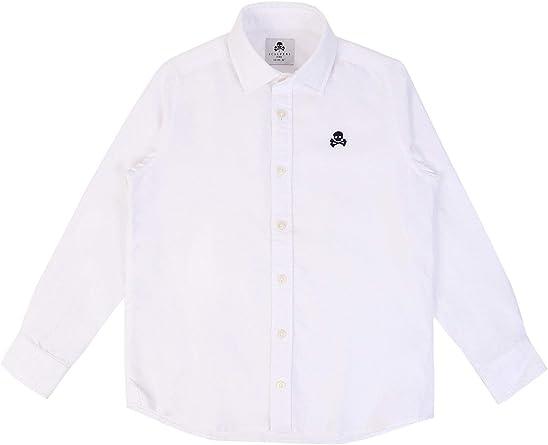 Scalpers Camisa ALGODÓN Logo Calavera - White / 10: Amazon.es: Ropa y accesorios