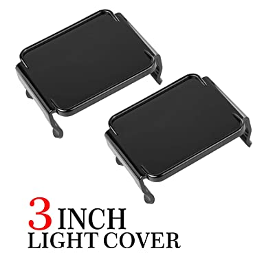 LED Pods Covers Black AKD Part 3 Inch Offroad Driving Lights LED Pods Work Lights Cover Light Bar Covers LED Cubes Covers PC Protective Lens Covers for Jeep SUV ATV UTV Marine: Automotive