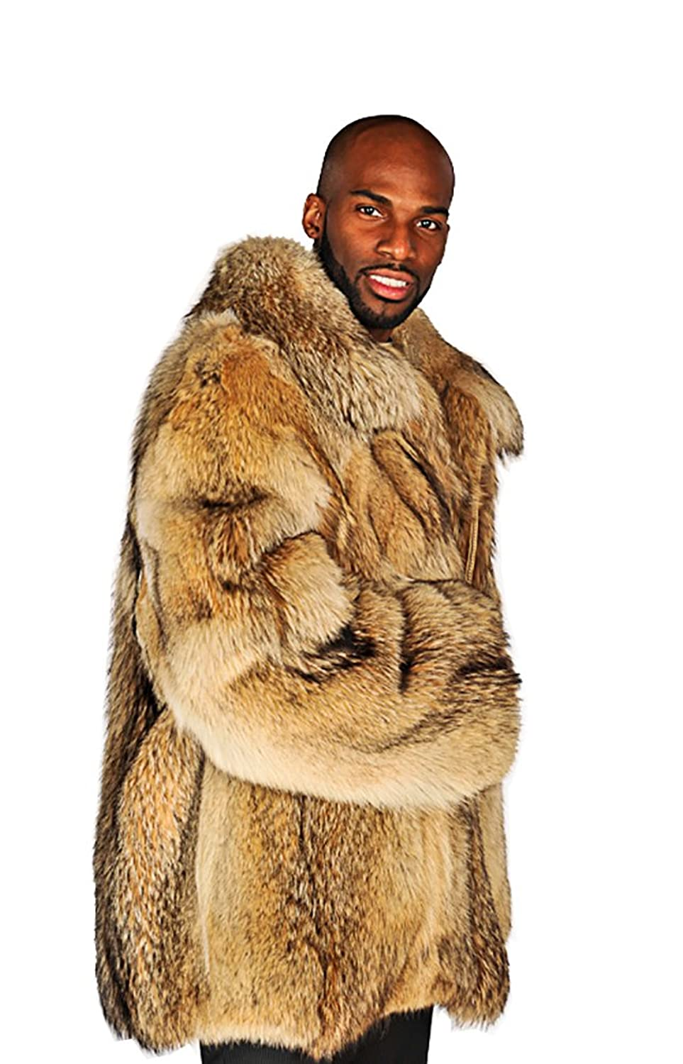 Madison Avenue Mall Coyote Mens Jacket - Real Coyote Fur at Amazon ...