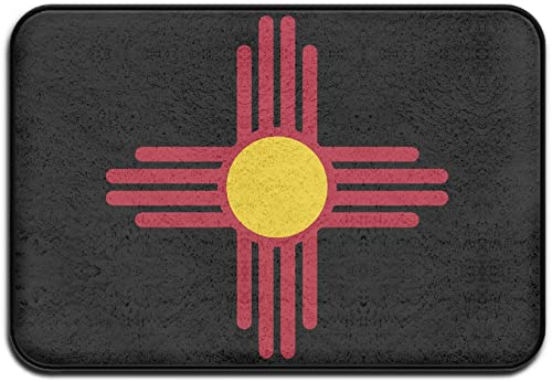 Flag Of New Mexico Doormat Outdoor Fashion Door Mats Outdoor Area Rugs Non-slip Door Mat Dog Mat Backing Doormat Rugs For Home –Coral Velvet And Memory Foam