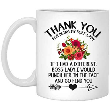 Amazon Com Gifts For Boss Lady Thank You For Being My