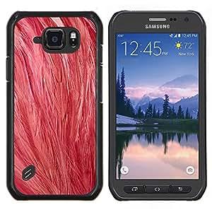 Caucho caso de Shell duro de la cubierta de accesorios de protección BY RAYDREAMMM - Samsung Galaxy S6Active Active G890A - Plumas rosadas del arte del pájaro de la naturaleza animal Soft