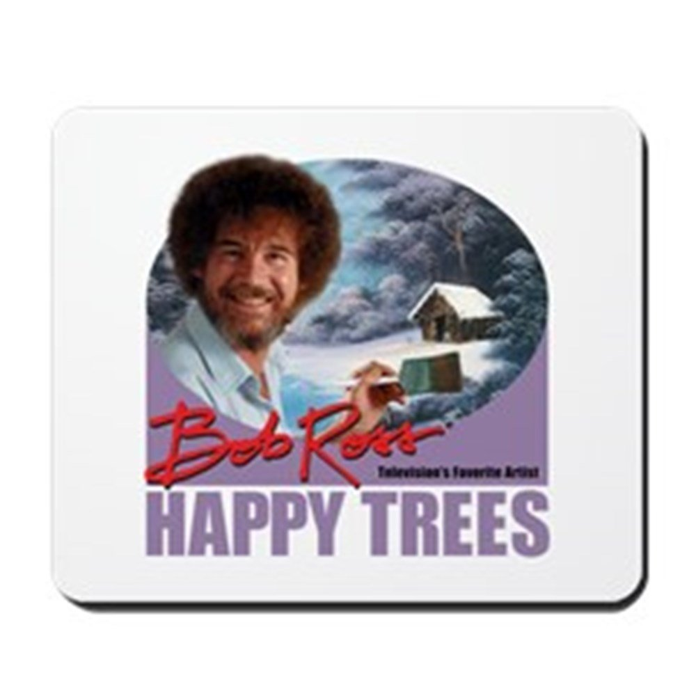 CafePress - Bob Ross - Non-slip Rubber Mousepad, Gaming Mouse Pad 1