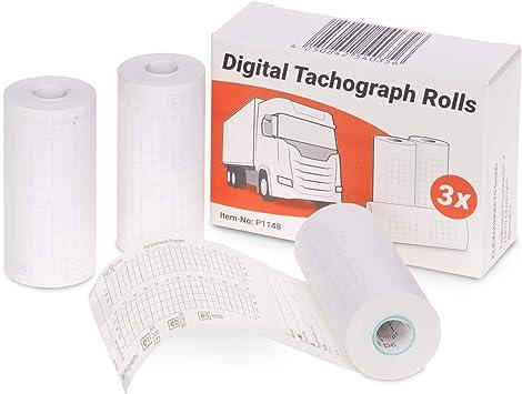 Thermopapier 57//28//7 Tachographenrollen Fahrtenschreiber Tachorollen LKW 8m