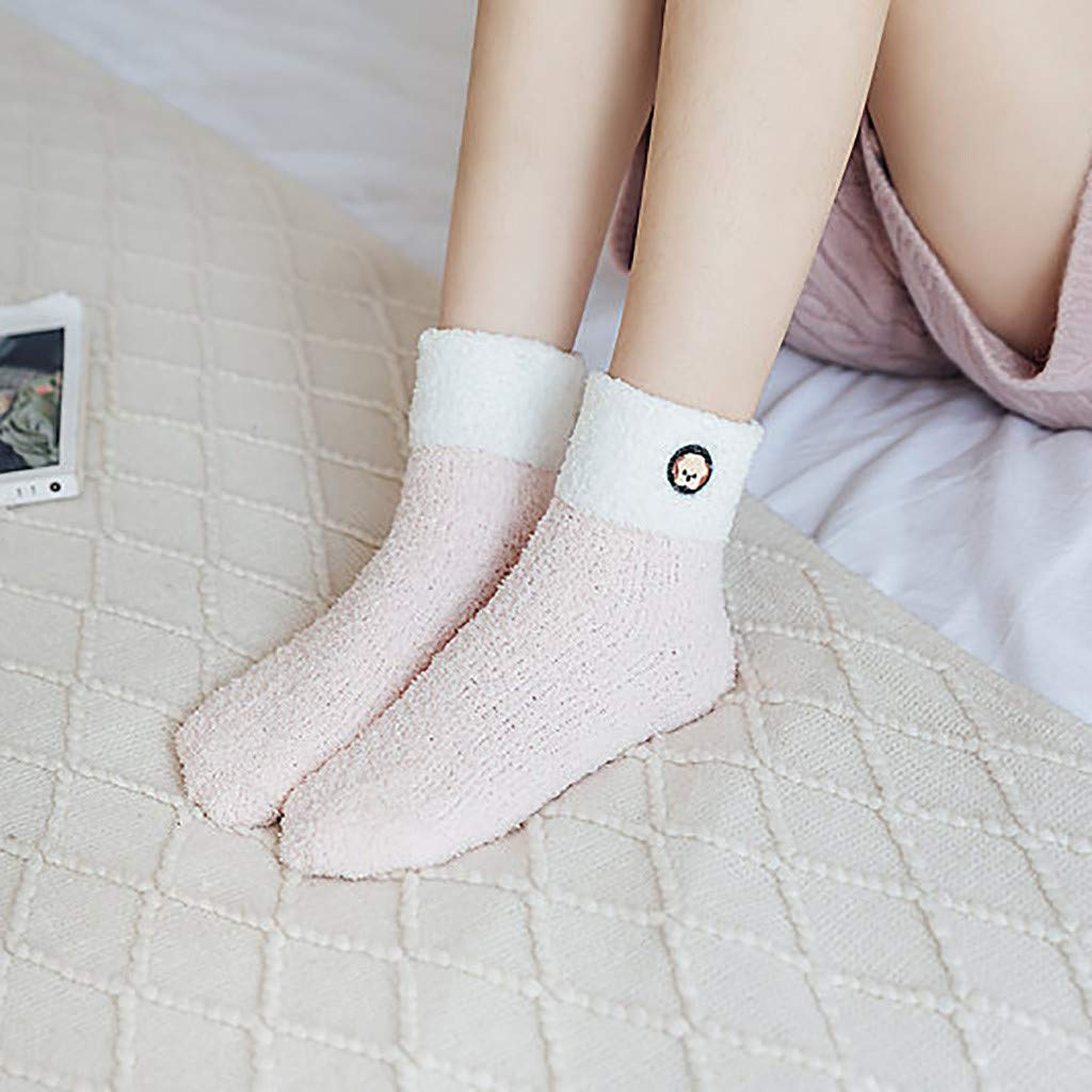 Womens Winter Warm Cozy Socks Super Soft Plush Slipper Sock for Girls Cute Cozy Fluffy Socks