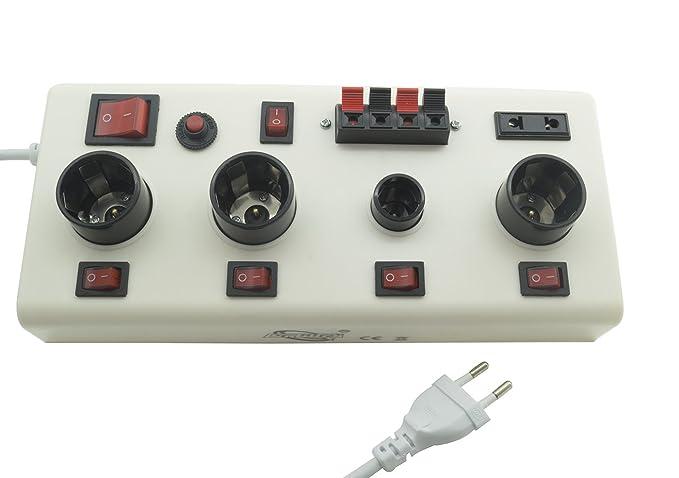 Medidor-comprobador de bombillas LED con casquillo E14 o E27