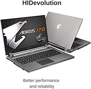 "HIDevolution AORUS 17G XB-8US2130MP 17.3"" FHD 240Hz, 2.3 GHz i7-10875H, RTX 2070 Super Max-Q, 32 GB 2666MHz RAM, 1 TB PCIe SSD"