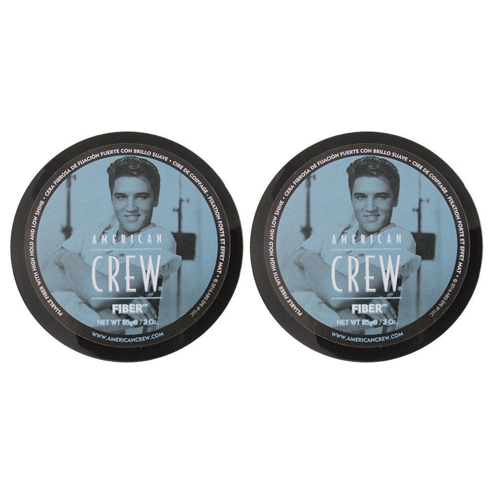 American Crew Fiber Pliable Molding Creme for Men, 3 Ounce Jars (Pack of 2)