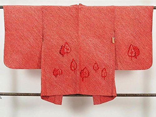 メタン供給見分けるリサイクル羽織/正絹赤地総絞り袷絵羽羽織(はおり 防寒着 中古羽織 USED羽織リサイクル着物)【ランクA】