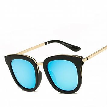 Gafas de Sol Trend Personalizadas Retro Polarizado Polarizado Gafas , Negro Y Azul Brillante