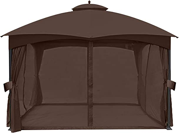 Amazon Com Abccanopy Universal 10 X 12 Gazebo Replacement Mosquito Netting Walls Brown Garden Outdoor