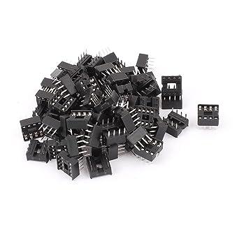 sourcingmap 60 piezas Soldador Tipo 8 PIN PUNTA Circuito Integrado IC Enchufes Adaptador