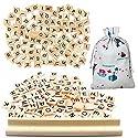 Scrabble木製タイル、meiso木製文字タイルGreat for Craftsペンダントスペルゲームや結婚式スクラップブックComplete Pack 100の木製ピースand 1木製レターラックの商品画像