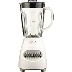 Brentwood JB-920W Blender with Glass Jar, 12-Speed + Pulse, White