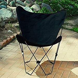Ebony Black Replacement Cover For Retro Folding Butterfly Chair