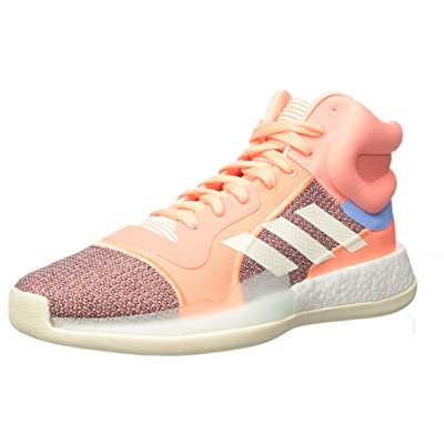 adidas Men's Marquee Boost Low, Sun Glow/Cream White/Bahia Light Blue, 14 M US | Basketball
