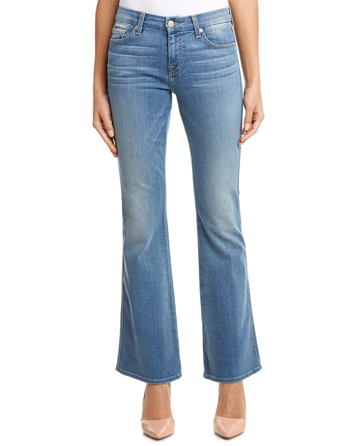 "7 For All Mankind Lexie Petite ""A"" Pocket Olivia Authentic Light Flare Leg"