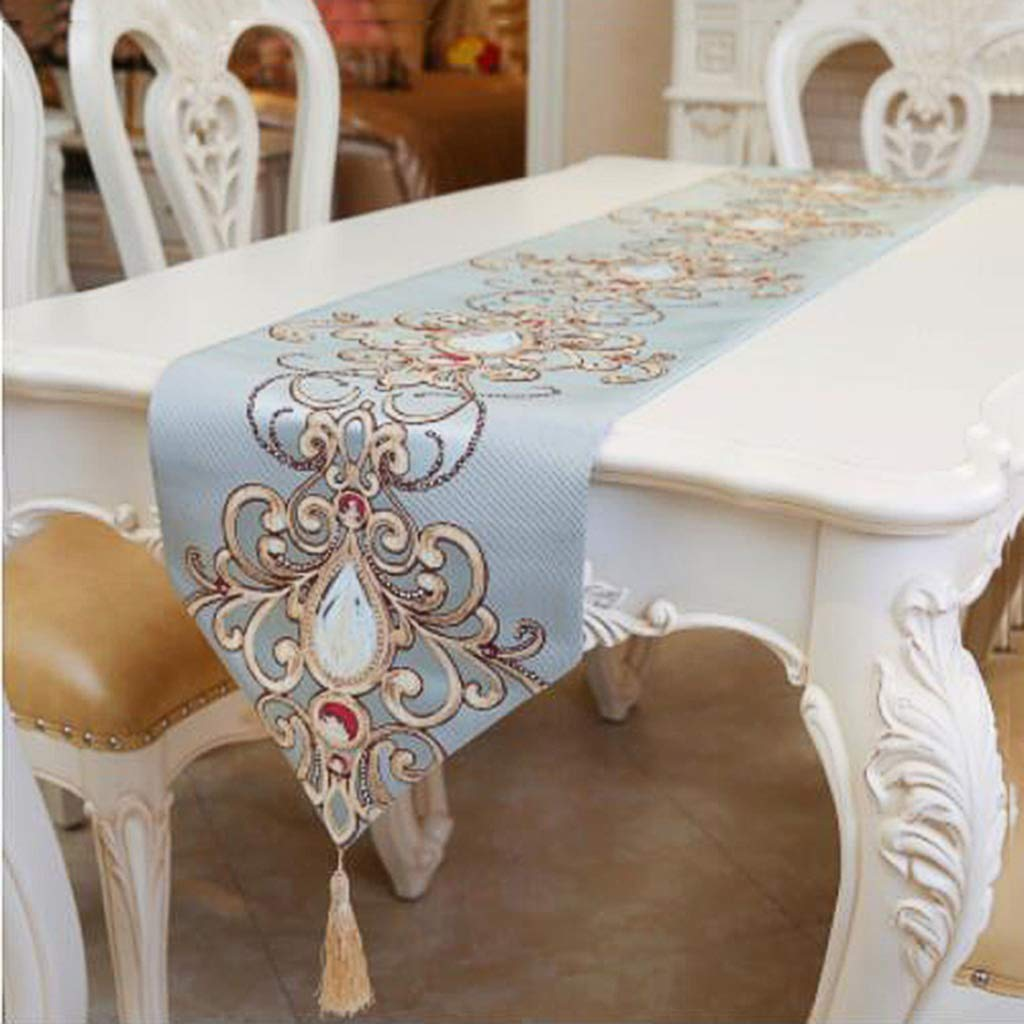 JJSP Tischfahne klassischen Retro Couchtisch Tischdecke Stickerei Tischfahne 32  160cm32  250cm (größe   32  180cm (130 Tables)) B07K7LNQ16 Tischdecken Glücklicher Startpunkt  |