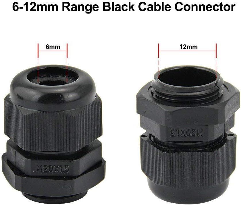 Gris Termoplástico 1 piezas Glándula M20 IP68 Estera de 10-14mm