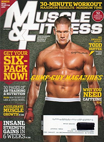 Muscle & Fitness July 2010 Todd Duffee/UFC on Cover, 30-Minute Workout - Maximum Results/Minimum Time, Get Your Six-Pack Now, 30 Pages of Ab Training & Nutrition, Accelerate Muscle Growth, Insane Strength Gains in 6 Weeks, Why You Need Caffeine