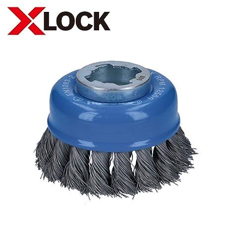 Bosch X-LOCK Topfbürste 75 mm gewellter Stahldraht für X-LOCK Winkelschleifer
