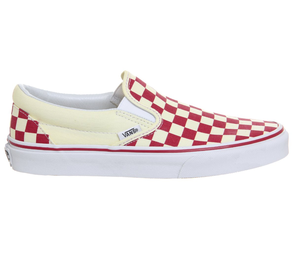 [バンズ] VANS スニーカー Classic Slip-on B07814SRKW 7 B(M) US Women / 5.5 D(M) US Men ( Primary Checker) Racing Red / White