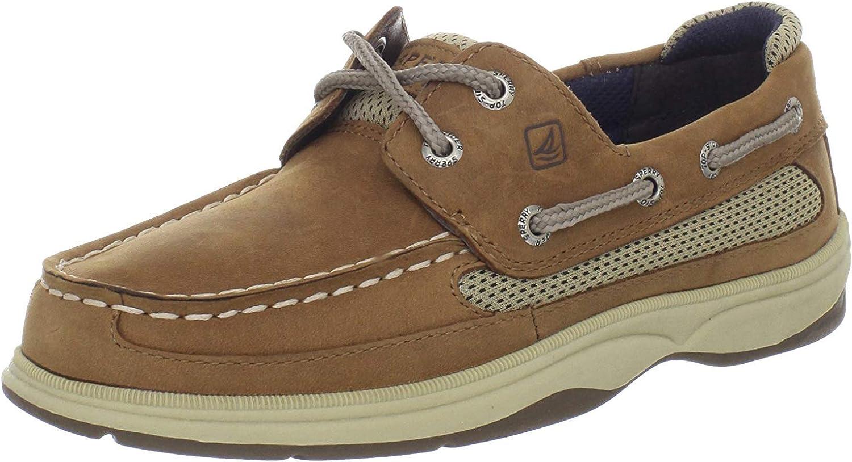 Dark Tan/Navy Boat Shoe 7 Big Kid M