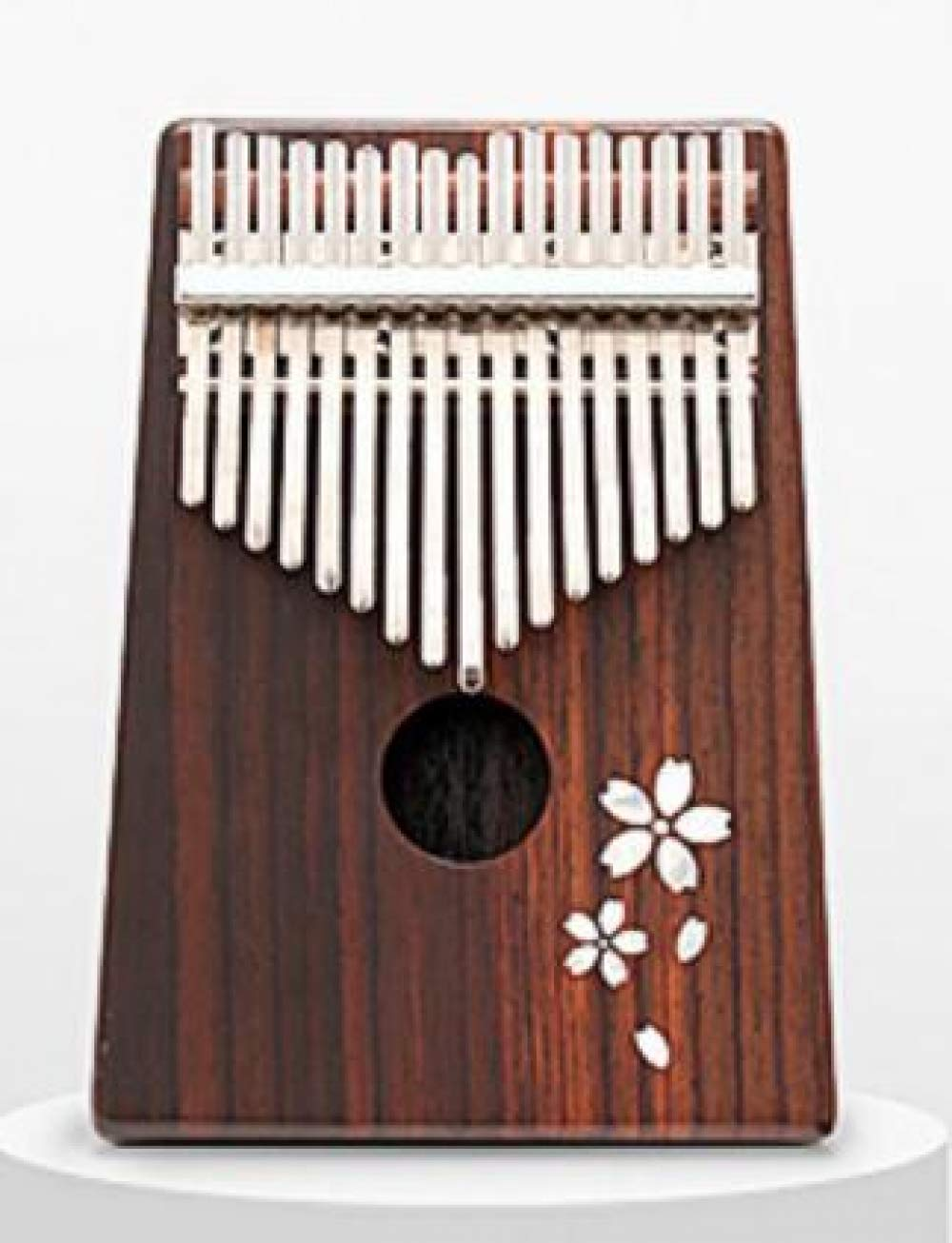 17 Keys Kalimba with Bag, Solid Mahogany Rosewood Bamboo Thumb Piano,Mbira Calimba Musical instruments