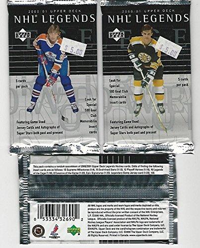 NHL Legends 2000_2001 Upper Deck 3 Pack lot