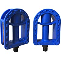 1 Pair Bicycle Pedal MTB Cycling Bike Toe Clip Pedals with Strap Belts