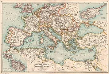Mittelmeer Karte Europa.Sudlichen Europa Mittelmeer Einsatz Malta Goza Cyprus