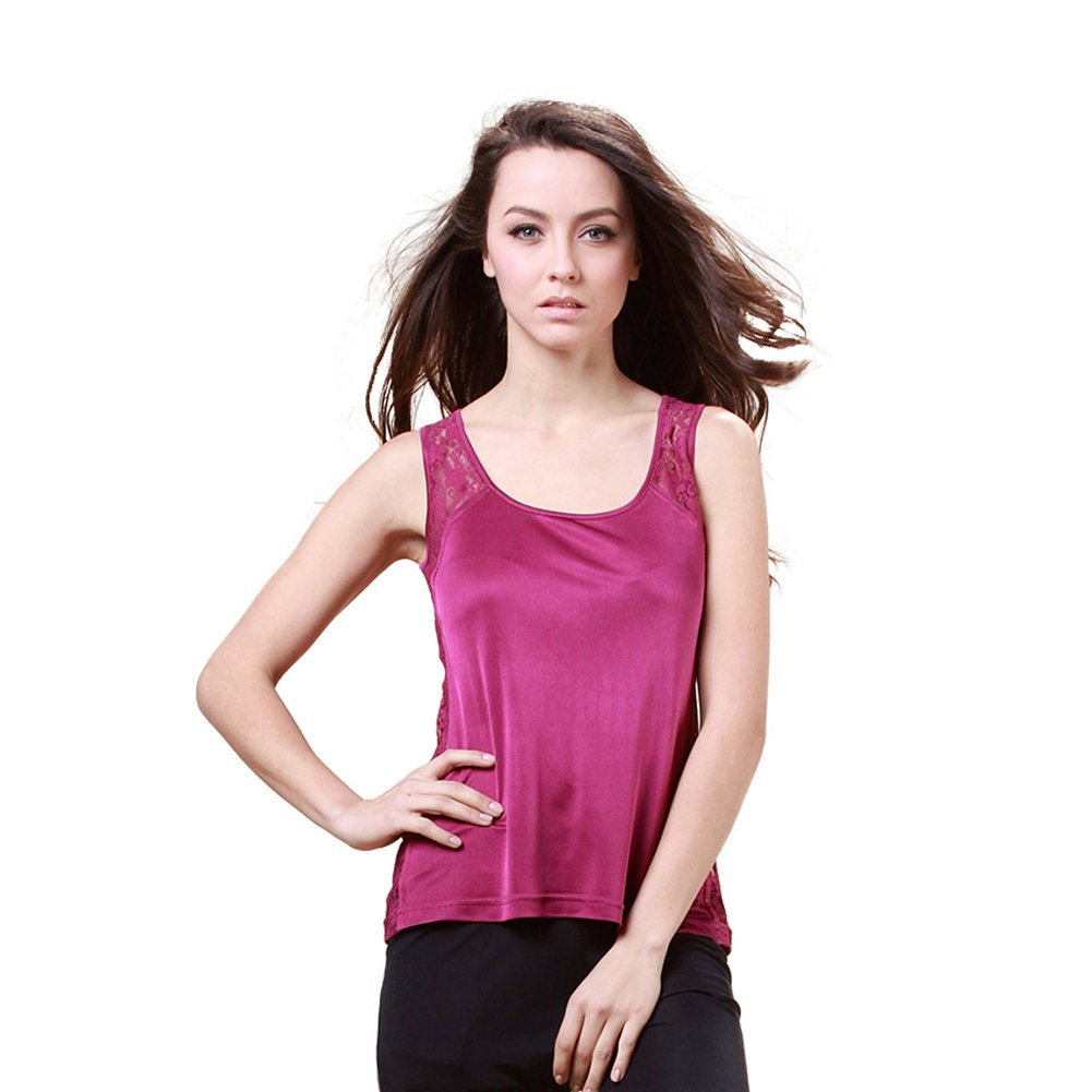 Forever Angel Women's 100% Silk Knitted Casual Camisole