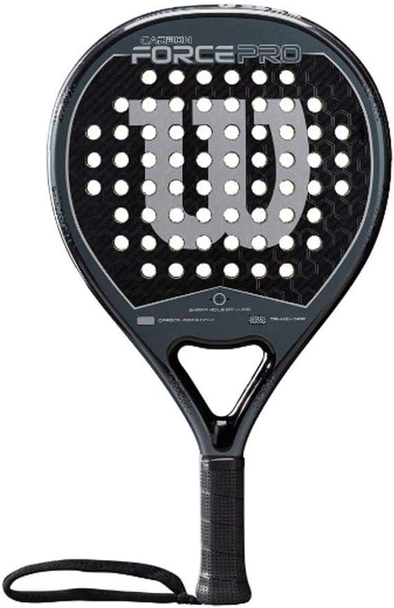 Wilson Carbon Force Pro Pala de pádel, EVA/Núcleo de fibra de carbono, 365 g, apto también para tenis playa, Unisex, Negro/Gris: Amazon.es: Deportes y aire libre