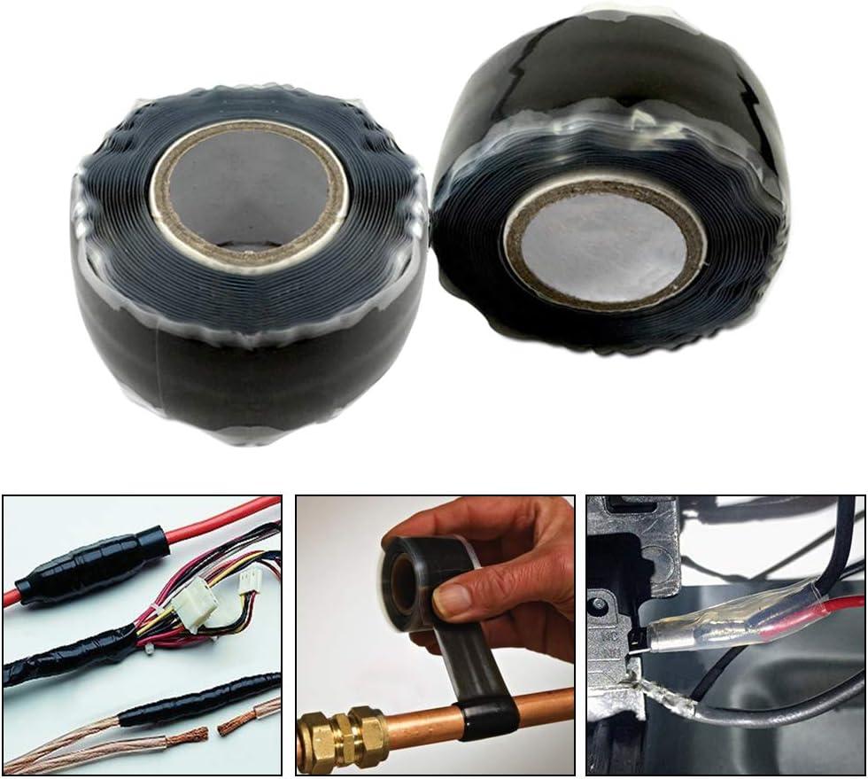 Schl/äuche Silikon-Gummi selbstverschmelzendes Klebeband 1 Rolle wasserfest und auslaufsicher CTGVH Notfall-Reparatur-Klebeband Rohrreparatur-Dichtungsband f/ür elektrische Kabel blau